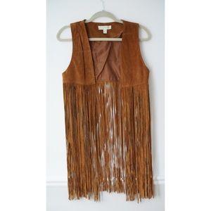Leather Fringe Vest